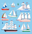 sail boat transportation sailboat for water vector image