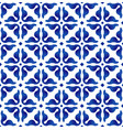seamless pattern blue and white vector image vector image