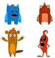 set aliens characters vector image