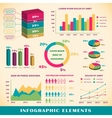 set infographics elements vector image