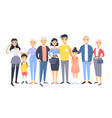 set of different asian couples and families vector image vector image