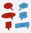 set of speech bubble icons 3d style vector image vector image