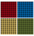 set umberjack plaid seamless patterns vector image
