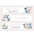 set vintage labels with flowers frame vector image vector image