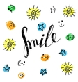 Smile hand drawn motivational poster vector image vector image