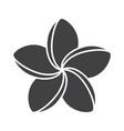 spa salon plumeria flower glyph icon vector image vector image