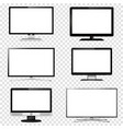 tv screen and computer monitor set isolated on vector image
