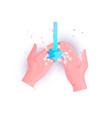 washing hands with soap or hand sanitizer vector image vector image