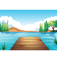 water and bench vector image vector image