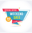 weekend sale banner vector image vector image
