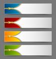 Zipper banners vector image vector image