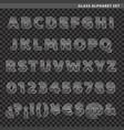 glass alphabet set vector image
