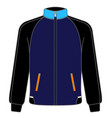 polo sport jacket mock up realistic vector image