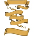 ribbon banners engravin style vector image