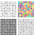 100 office clerk icons set variant vector image vector image