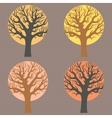 A group of trees vector image