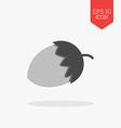 Acorn icon Flat design gray color symbol Modern UI vector image vector image