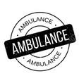 ambulance rubber stamp vector image