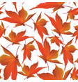 autumn leaves background floral seamless pattern vector image vector image