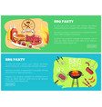 bbq party collection websites vector image vector image