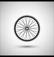 bicycle wheels bicycle accessories icon vector image vector image