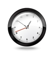 Black office clock isolated on white background vector image vector image