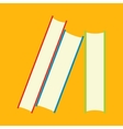 Books flat icons vector image vector image