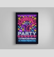 carnival party design template brochure poster vector image vector image