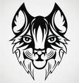 Cat Face Tattoo vector image vector image