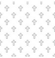 catholic cross pattern seamless vector image vector image