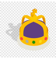crown english monarchs isometric icon vector image vector image
