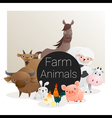 Cute animal family background with farm animals 3 vector image vector image