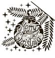 decorative christmas ball vector image vector image