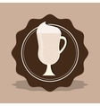 delicious milkshake cup vector image vector image