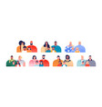 diverse young parent family people set isolated vector image