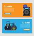 dj music music party two vector image vector image
