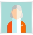 flat old woman icons vector image vector image