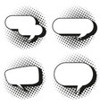 four design of speech bubbles vector image vector image