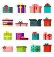 Gift open box set vector image vector image