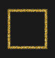 gold frame glitter texture isolated on black vector image vector image