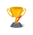golden trophy cup isolated icon vector image vector image