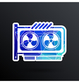 GPU or Computer graphic card icon component vector image vector image
