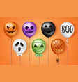 halloween 3d balloons scary air balloons in vector image vector image