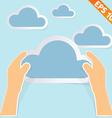 Hand with cloud computing - - EPS10 vector image vector image