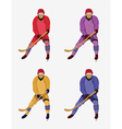 Hockey Players with a hockey stick and skates vector image vector image