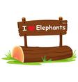I love elephant vector image vector image