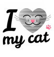 i love may cat vector image