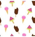 Ice cream seamless pattern Summer vector image vector image