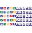 icons Internet and telephone vector image vector image