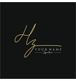 letter hz signature logo template vector image vector image